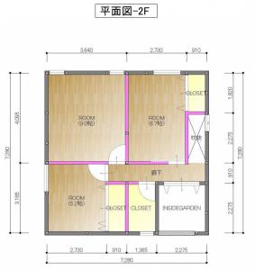 松木町間取り図 (2階)